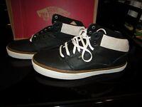 Brand Mens Black & Brown Vans Bedford Crackle Tennis Shoes, Size 10.5