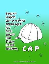 Sombrero Nombres Libro de Colorear Aprende Inglés para niños Adultos Casa...