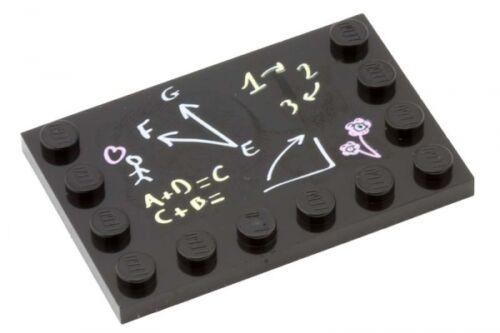 LEGO BLACKBOARD ~ Minifigure City School Black Board Pattern 4x6 Plate NEW *