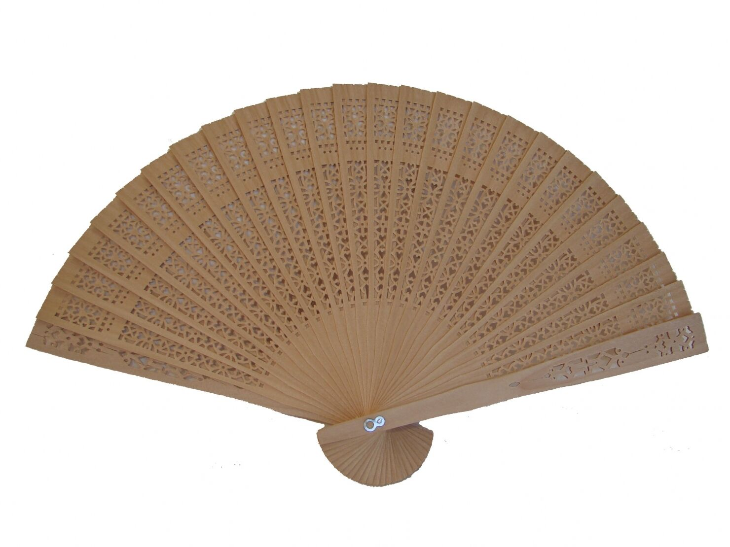 4 Pcs of Chinese Sandalwood Folding Hand Fan for Wedding Bridal Party, Baby Show