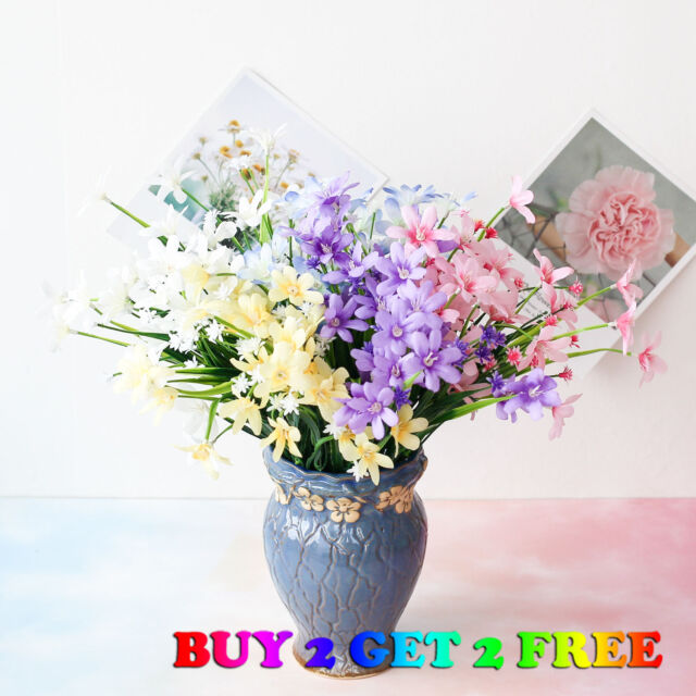 Artificial Flowers Fake Pansy Bunch Wedding Party Home Grave Outdoor Bouquet For Sale Online Ebay