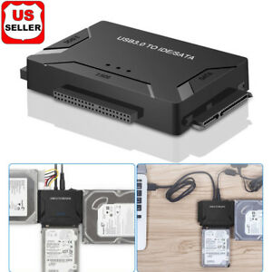 USB-3-0-to-IDE-amp-SATA-Converter-External-Hard-Drive-Adapter-Kit-2-5-034-3-5-034-Cable