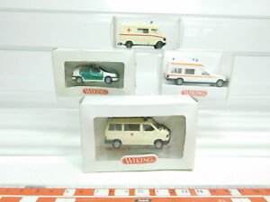 Bk12-0-5-4x-Wiking-h0-1-87-policia-ambulancia-VW-MB-104-070-278-320-Neuw-embalaje-original