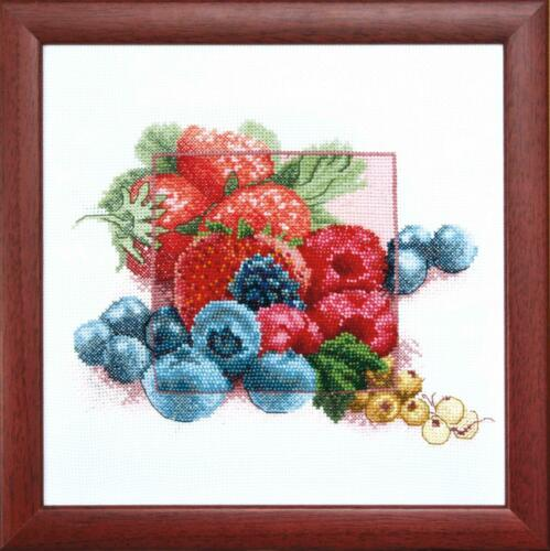 New Counted Cross Stitch Kit ВТ-1003 Blueberry by Charivna Mit Crystal Art