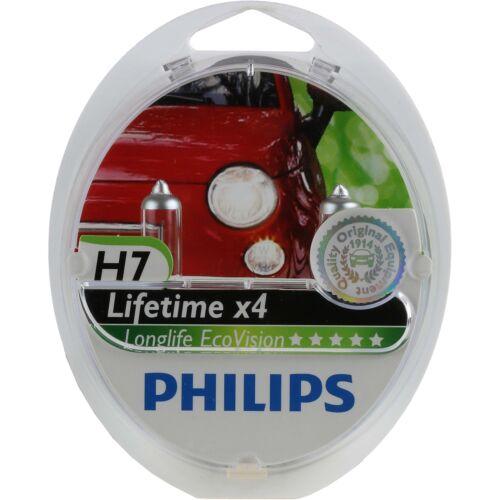 Philips Long Life Eco Vision H7 12V//55W Sockel PX26d Halogen 1325656