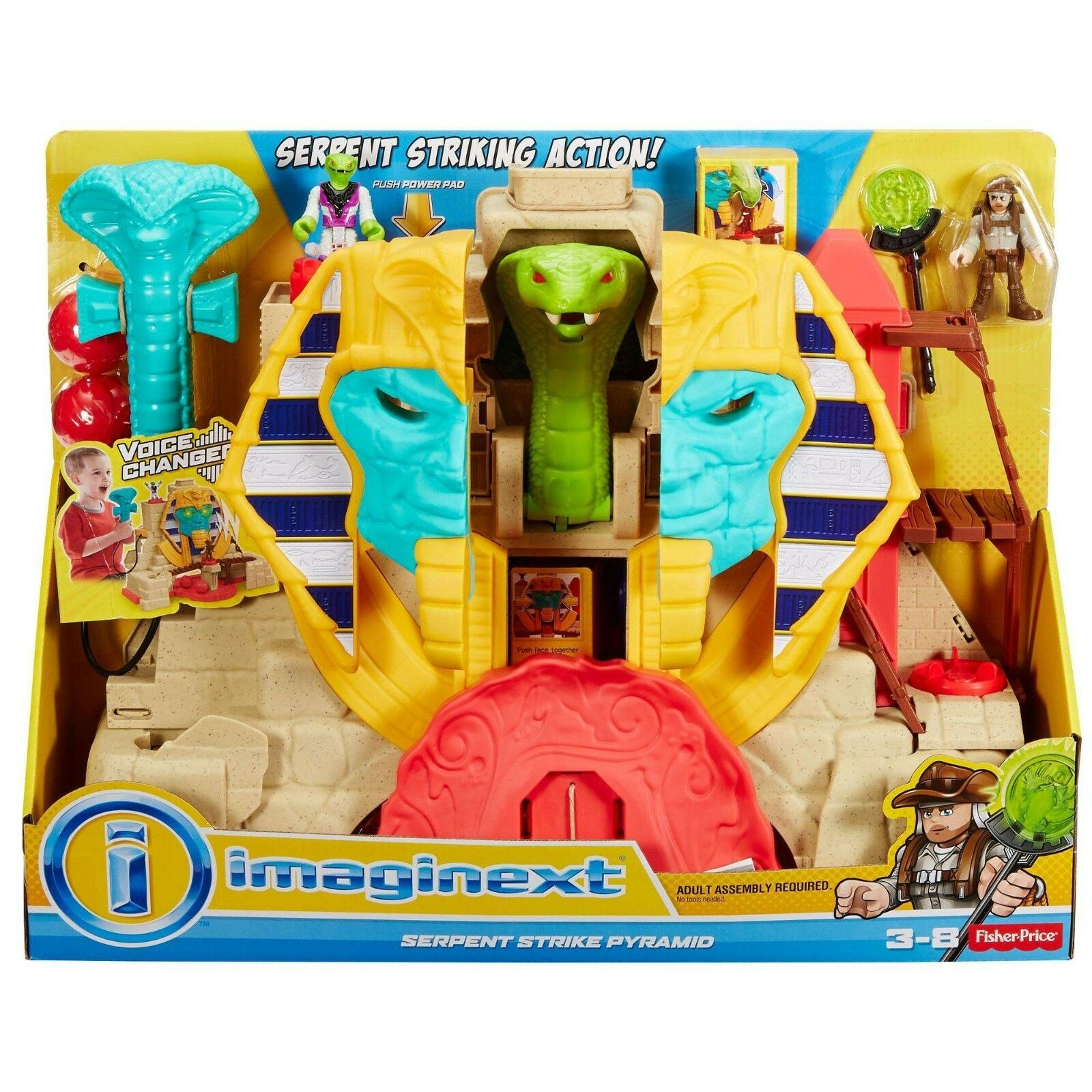 Fisher-Price Imaginext Mummy Serpent Strike Pyramid Set with Voice Changer