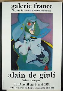 School of Life, Alain De Giuli Galerie France Burgundy 1981 Poster Display