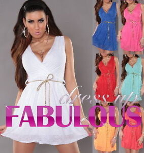 2bcde8d983a Details about NEW SEXY 8 10 WOMEN S MINI DRESS PARTY CLUBBING EVENING SUMMER  CLOTHING S M