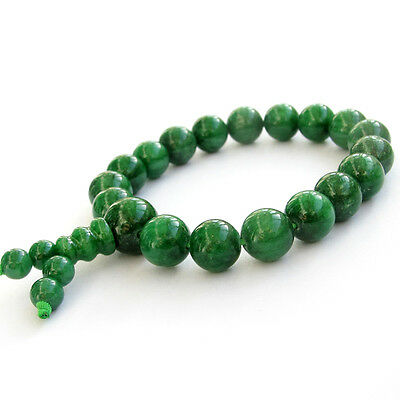Green Beads Tibetan Buddhist Prayer Bracelet Mala