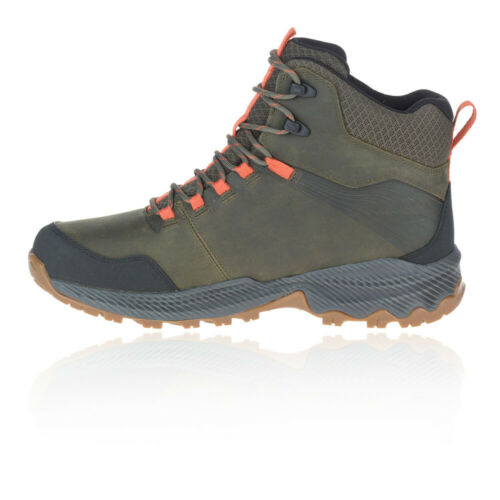 Merrell Homme forestbound Mid Imperméable Marche Bottes Vert Sports Outdoors