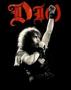 DIO-cd-lgo-Ronnie-James-PHOTO-WE-ROCK-Official-2-SIDED-SHIRT-SMALL-black-sabbath