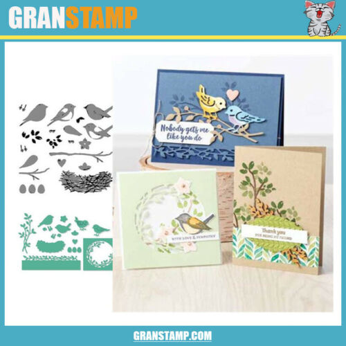 MP151 BIRDS Metal Cutting Dies and Stamps Embossing Stencils For DIY Photo Album