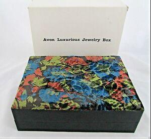 VINTAGE AVON VELVET LUXURIOUS JEWELRY BOX NEW IN BOX 1994 VERY