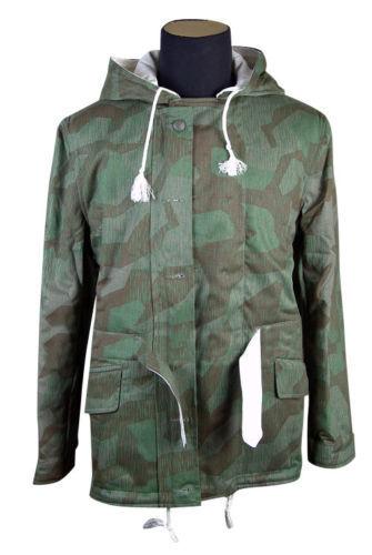 WW2 Splinter Camo German Army Winter Parka 40/'s Repro Padded Cold Weather Jacket