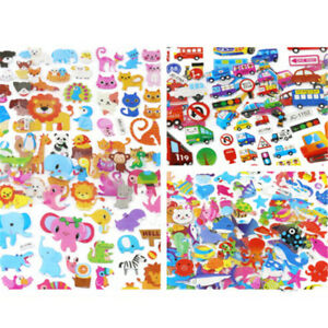 5Sheets-Cute-Cartoon-Scrapbooking-Bubble-Puffy-Stickers-Reward-Kids-Gift-Toys-iv