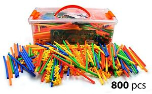 Image Is Loading Straws Amp Connectors Building Construction Toy Giant 800