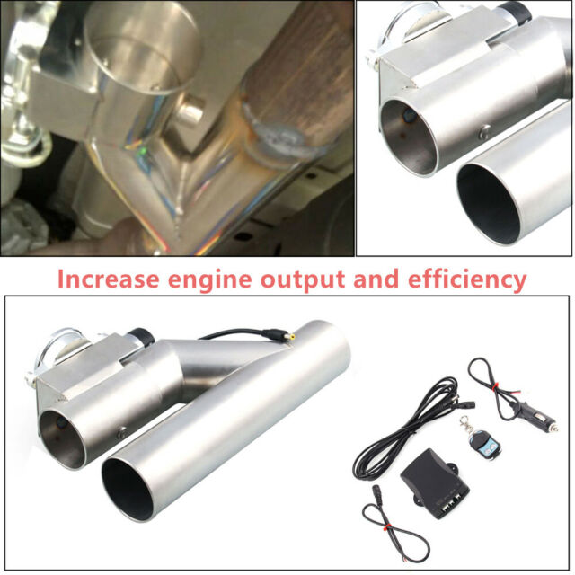 "Durable  Exhaust Control E-Cut Out 3/""inch Valve Electric Y Pipe with Remote Kit"