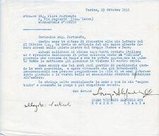 LORENZO ALESSANDRI SURFANTA LETTERA AUTOGRAFA A PIERO FORTUNATO 1956 OCCULTISMO