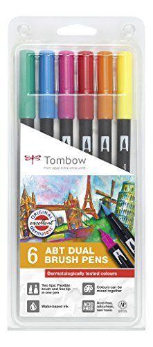 Pack of 6 Tombow ABT Dual Brush Pen