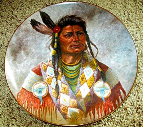 """Chief Joseph"" CHIEFTAIN SERIES by Gregory Perillo AMERICAN INDIAN Plate"