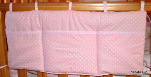 Baby Polka Dot Cot Tidy for Nursery Cot// Cotbed Brand New