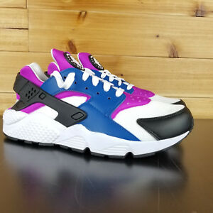 Nike-Air-Huarache-Men-039-s-Running-Shoes-Blue-White-Violet-318429-415-Multiple-Size