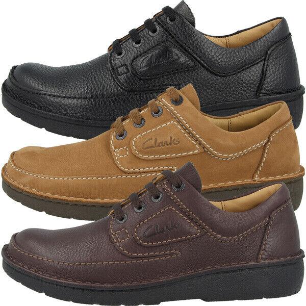 Clarks Nature II Schuhe Men Herren Halbschuhe Leder Freizeit Schnürschuhe 261420