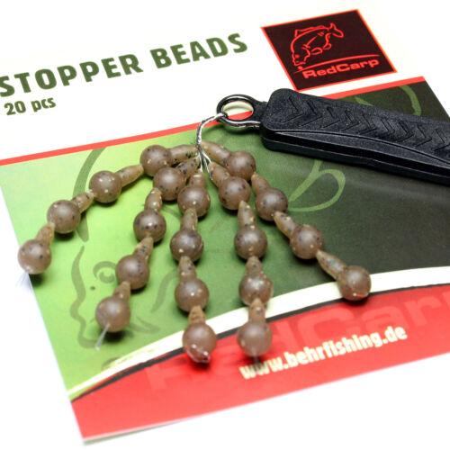 20x Stopper Beads DELUXESchnurstopper in Camou-FarbeGummistopper Absorber