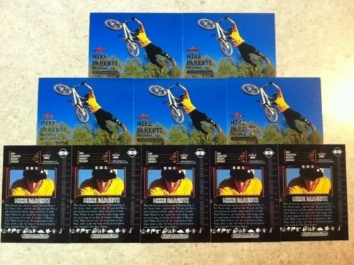10x Lot Mike Parenti BMX Trading Cards from 2000 Fleer Adrenaline