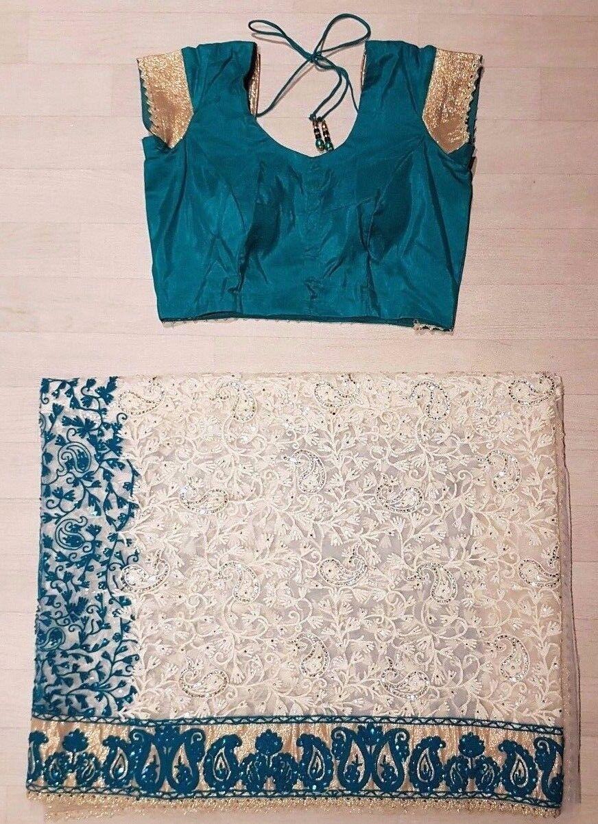 Indian Bollywood Ethnic Traditional Asain Saree Sari Wedding Party Wear Blouse E