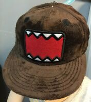 Domo Big Face Brown Plush Adjustable Baseball Hat Cap Fits All