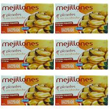 6 X Spanien MEJILLONES picantes  ESCABECHE / MIESMUSCHELN WÜRZIG MARINADE