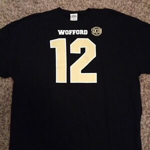 check out 9c1f7 e94bb Details about NEW Wofford Terriers Men's 2XL Football 12th Man #12 Black  GameDay Tee Shirt XXL