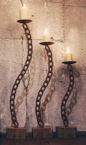Kerzenhalter Kerzenständer Candle Chain Kette mit Holz in 3 Größen verfügbar