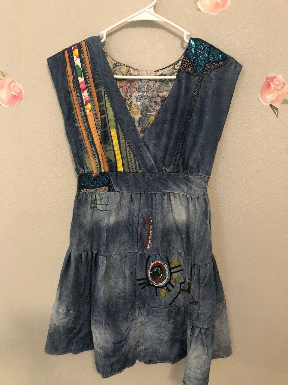 Desigual Denim MultiFarbe Dress Größe 36