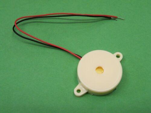 Encased Piezo Low profile ht=7.3mm  dia= 23mm  DC 5v to 9v Arduino CF25