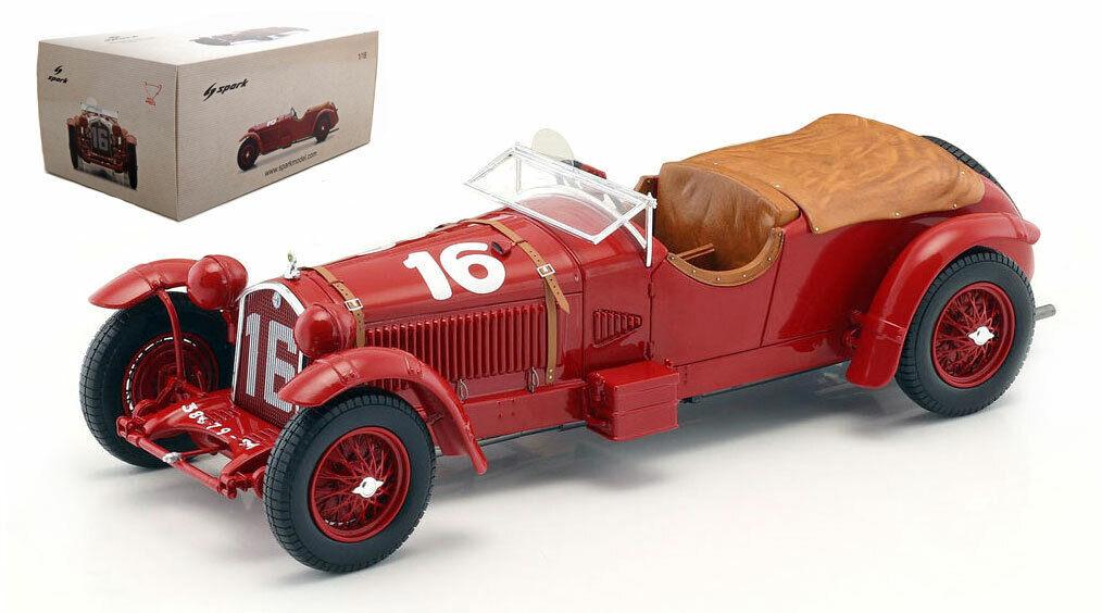 Spark 18LM31 Alfa Romeo 8C Ganador Le Mans 1931-Howe Birkin 1 18 Escala