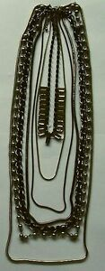 Black-amp-Silver-NECKLACE-7-Strand-assorted-chain-designs-amp-lengths-NEW-ITEM