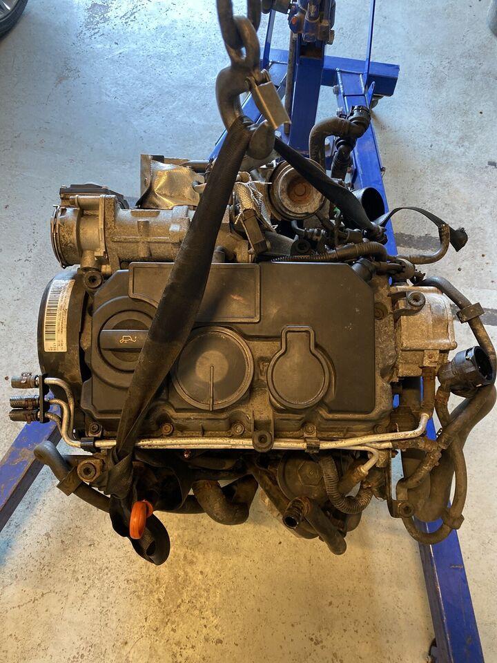 Motor,dsg gearkasse 2,0 TDI BMM, Skoda Vw, årg. 2008