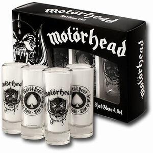 Motörhead 4er Set - Shotgläser - Schnapsgläser - Heavy - Metal - Lemmy Kilmister