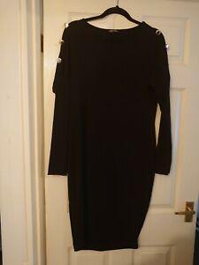 New Fashion Size 18 Black Dress, Long Sleeves