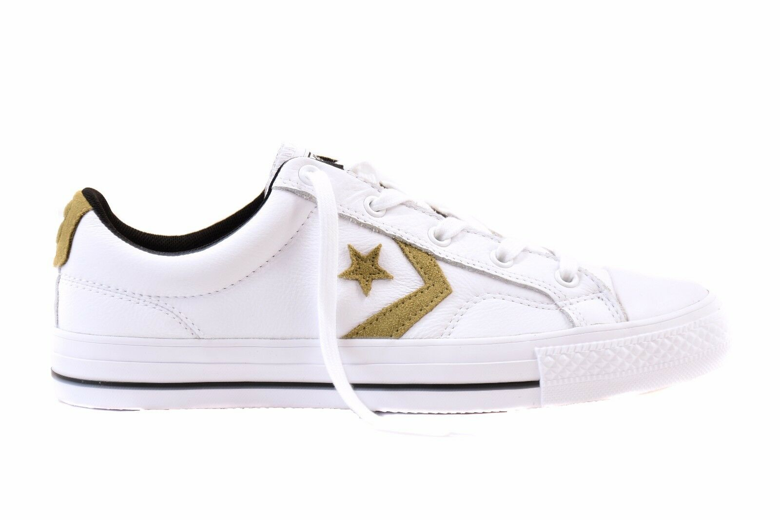 Converse Unisex Star Player Leather OX 153763C Sneakers White RRP £110 BCF78