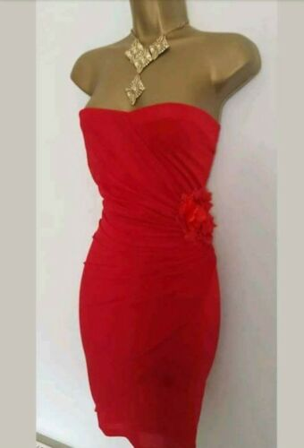 Wedding Bodycon Mini Jane Evening 14 Dress Norman Strapless £90 Red cwITR