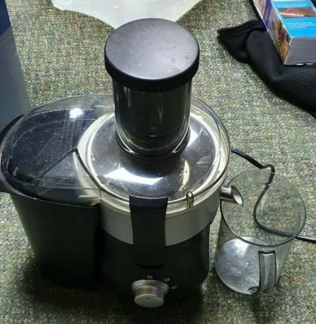Cookworks Whole 600W 0.8L Fruit Juicer Stainless Steel.