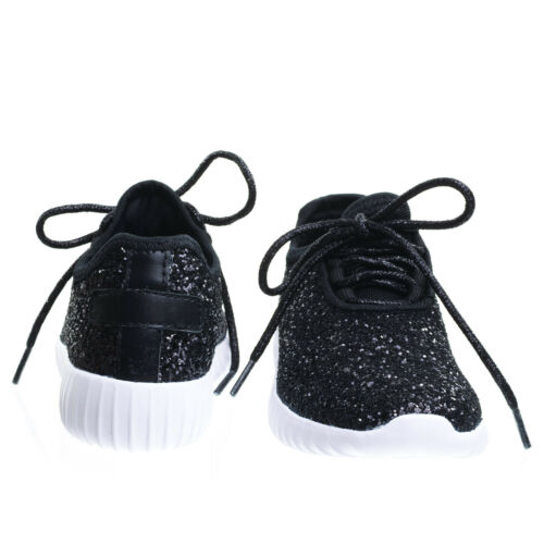 Girl Remy18k Lace up Rock Glitter Fashion Sneaker For Children Kids