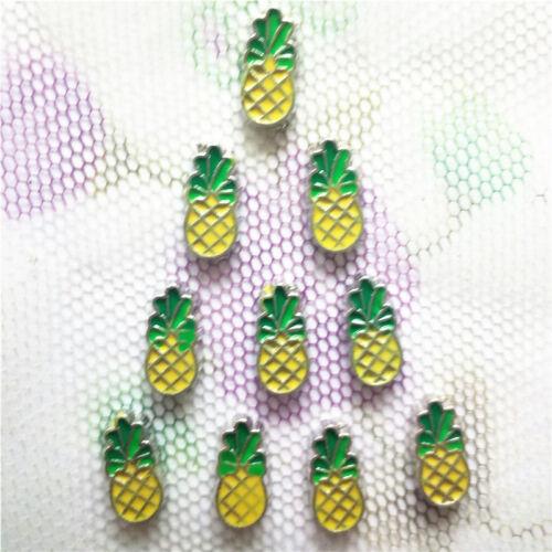 10PCS pineapple floating charm for glass living memory locket #109