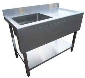 Stainless Steel Sink Units Commercial : Commercial-Catering-Kitchen-Stainless-Steel-Sink-Unit-1metre-100cm-RHD ...