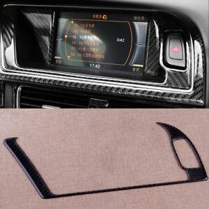 GPS-Navi-Blende-Navigator-Panel-Rahmen-Kohlefaser-Abdeckung-Fuer-Audi-A4-A5-S4-S5