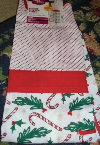 NWT Christmas Apron and tea towel Holiday set or single Party candy cane party