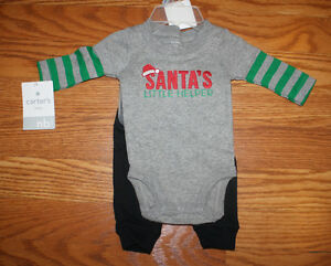 aee5491cb NWT CARTERS BABY Santa's Little Helper Christmas 2 Piece Outfit ...